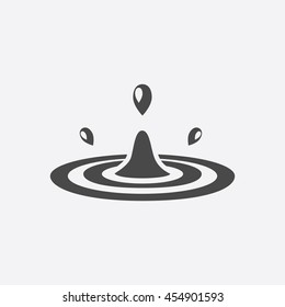 Water drop icon of vector illustration for web and mobile design