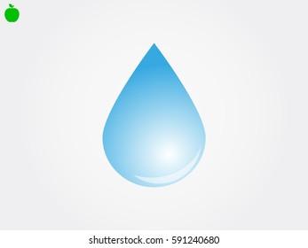 water, drop, icon, vector illustration eps10