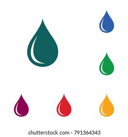 Water drop icon. Vector illustration