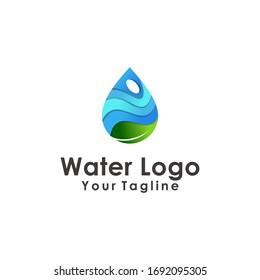 water drop logo design element vector illustration icon droplet energy nature