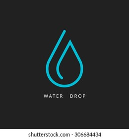 water drop logo design element vector illustration icon droplet energy nature