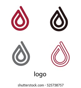 Water drop logo. Design element. Vector illustration. Water logo.