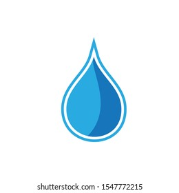 Water drop logo design with modern concept. Oil icon vector illustration