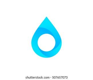 Water Drop Logo Design Template Element