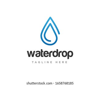 Water Drop Logo Design Vector Template
