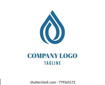 Water drop logo. Modern logo
