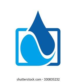 water drop logo. nature logo.