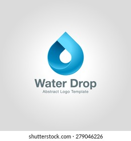 Water drop logo template icon. Corporate branding identity
