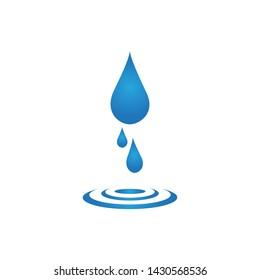 water drop logo template illustration