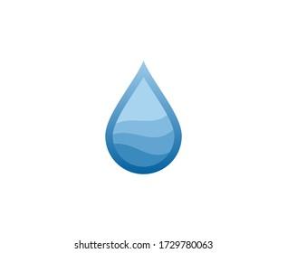 Water drop logo vector icon