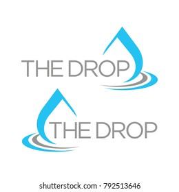 Water drop, oil, gas, logo design template vector illustration