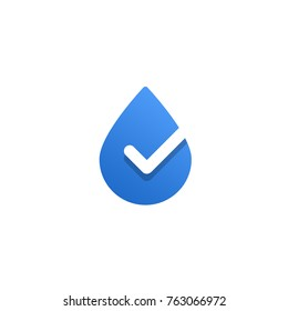 water drop ok succesfull check icon