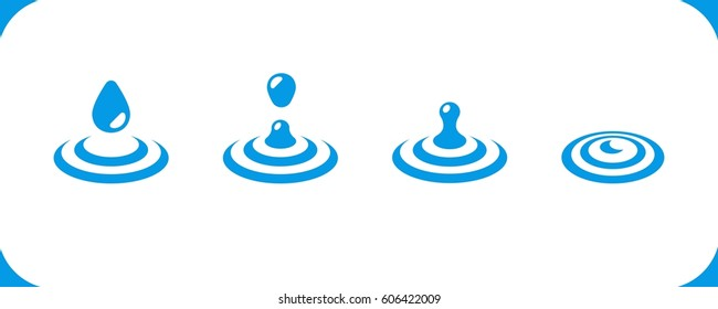 water drop on water surface icon,vector