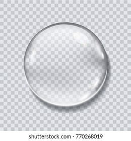 Water drop realistic vector illustration isolated, icon