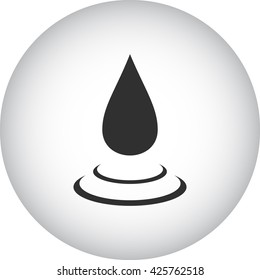 Water drop with rounds sign simple icon on  background