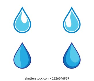 Water drop symbol illustration