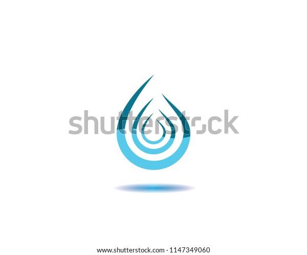 Water drop symbol illustration