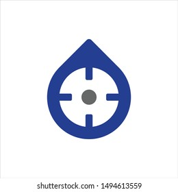 Water drop and target Logo. Accurate Symbol. Icon Vector Eps 10.