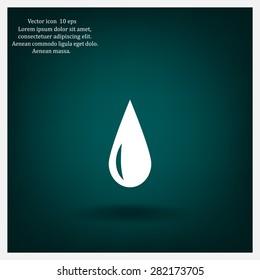 water drop. vector icon