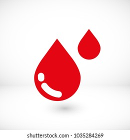 Water drop vector icon. The symbol of a liquid. Oil drop icon. Raindrop icon and weather symbol