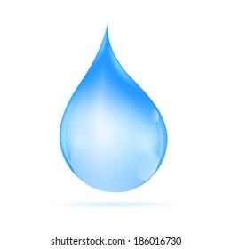 Water Drop  Vector Illustration