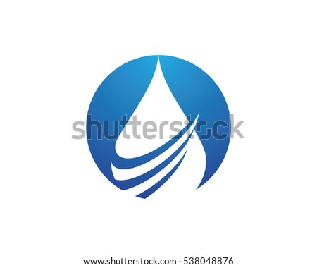 Water Droplet Element Icons Business Logo Stock Vector Royalty Free