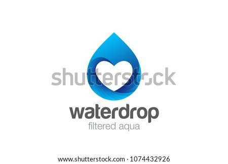 Water Droplet Logo Design Vector Template Stock Vector Royalty Free