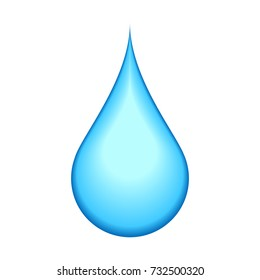 Water droplet vector icon.