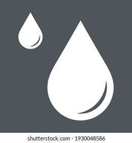 Water drops droplet raindrops icon illustration cut