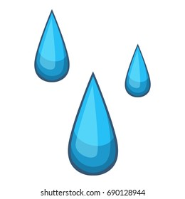 Water drops icon. Cartoon illustration of water drops vector icon for web design