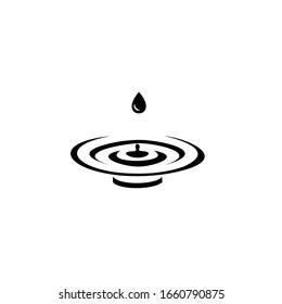 Water drops logo. Emblem design on white background.