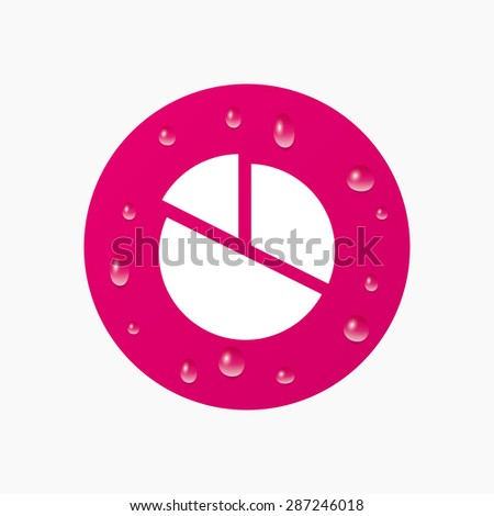 Water Drops On Button Pie Chart Stock Vector Royalty Free