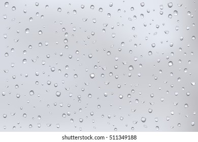 Water drops on glass. Water background. Vector illustration