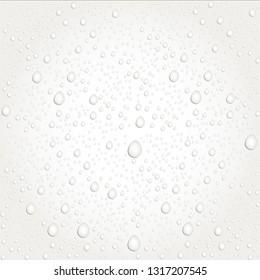 Water drops on glass. - Vector