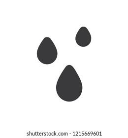 Water drops vector icon