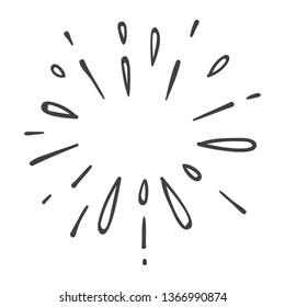 water explosion or star burst doodle,