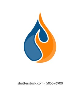 water and fire logo