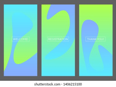 Water and flexiness abstract ideas concept. Blue and mint green fresh RGB gradient banner for screen, surface design, background. Abstract vector illustration for web, ui, ux, social media.