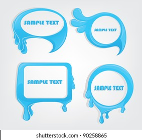 water frames for your text messages