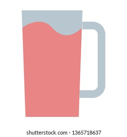 Water Glass, Drinking Glass Flat Style Icon - Vector