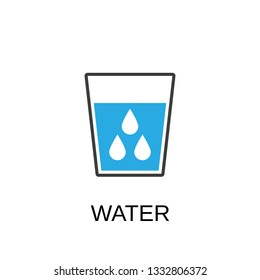 Water glass icon. Water symbol design. Stock - Vector illustration can be used for web