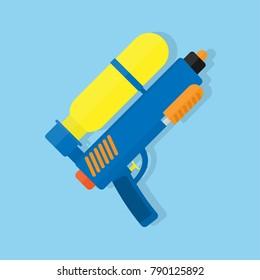 Water gun flat vector design.
