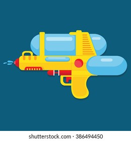 Water gun vector design for summer.