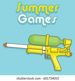 Water gun vector design for summer games.