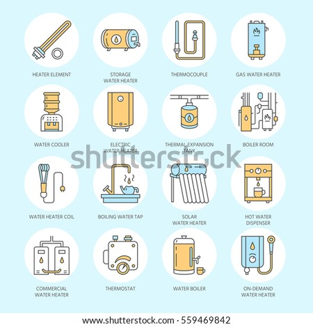 Water Heater Boiler Thermostat Electric Gas Stock Vector (Royalty ...