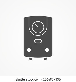 Water heater vector icon sign symbol