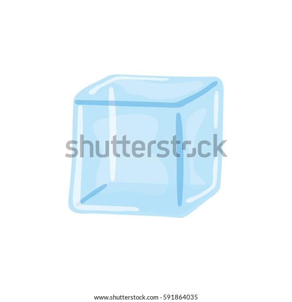 Vetor Stock De Icone Cubo De Gelo De Agua Livre De Direitos