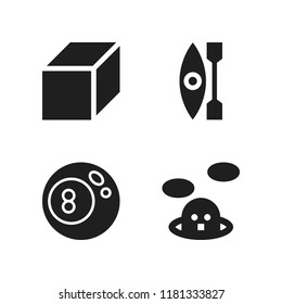 water icon. 4 water vector icons set. whack a mole, kayak and cube icons for web and design about water theme