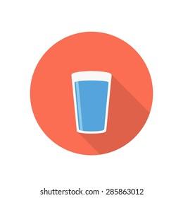 water icon , flat design