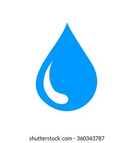 water icon, flat vector illustration. design EPS 10